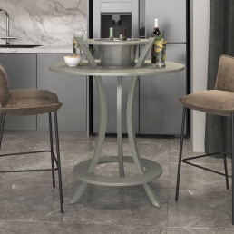 Quartz Bar Table in Carrara