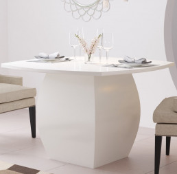 Milano Quartz Table in Ammonite Ice