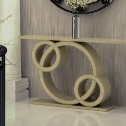 Sorrento Quartz Console Table in Ammonite Botticino